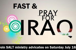 Praying and fasting for Iraq